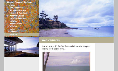 www.avaloncoastalretreat.com.au - image of website